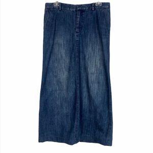 Banana Republic Long Blue Denim Skirt